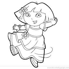 stylish in addition to gorgeous dora coloring pages printable