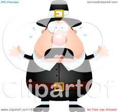 thanksgiving pilgrims clipart clipart of a scared screaming male thanksgiving pilgrim royalty