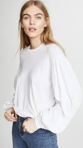 sleeve white blouse chic white tops and blouses shopbop
