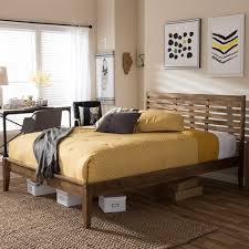 mid century bedroom colors light brown oak platform bed c