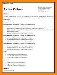 Blank Resume Template Download 100 Free Blank Resume 7 Free Blank Cv Resume Templates For