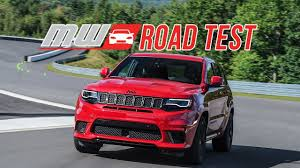 trackhawk jeep 2018 jeep grand cherokee trackhawk road test youtube