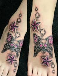 girly skulls with stars tattoo tattoo ideas pickers