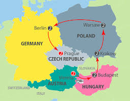 Eastern European Map by K601 Eastern European Panorama 13 Day Escorted Tour
