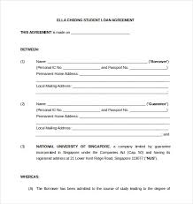 10 loan agreement templates u2013 free sample example format
