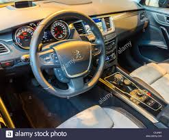 peugeot 508 interior 2012 paris france peugeot psa french car company corporate stock
