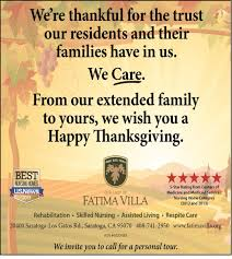 happy thanksgiving message to saratoga in the news our of