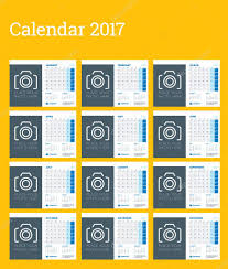 desk calendar template for 2017 year week starts monday set of
