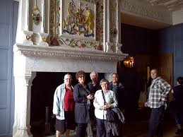 one of the grand fireplaces in the royal castle with the royal