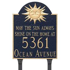 wedding plaques personalized personalized may the sun always shine address plaque