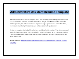 Resume Templates For Administrative Assistants Administrative Assistant Resume Template 2 638 Jpg Cb U003d1407216065