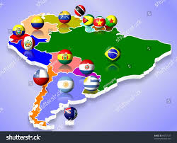Map Of Sounth America by Map South America All Countries Their Stock Illustration 91057127