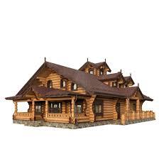 plant element 3d model log house cgtrader