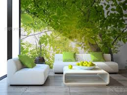 green forest wall murals posters mcp1178en artpainting4you eu green forest nature wall murals with a tree with green leaves in the spring