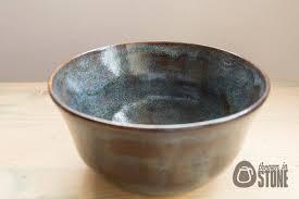 decorative bowl blue and toffee stoneware bowl home decor