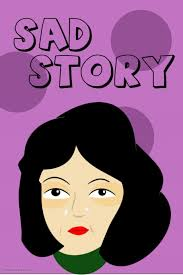 sad story book cover design template postermywall