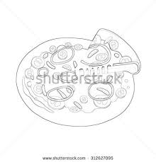 vector sketch salad tomatoes cucumbers spinach stock vector