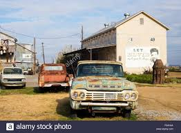 Old Ford Trucks Pictures - old ford pickup truck by cotton gin and elvis sign at the shack up