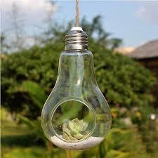 Wedding Garden Decor Aliexpress Com Buy Clear Bulb Glass Hanging Vase Bottle