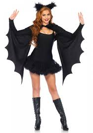 leg avenue 2146 cozy bat shrug wing set halloween fancy dress