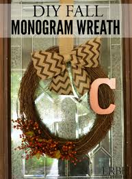 diy fall monogram wreath brick house