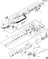 exploded view for the 1991 chevrolet camaro tilt steering column