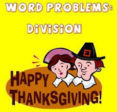 thanksgiving division word problems math word