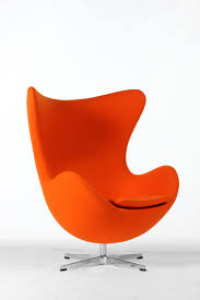mid century modern reproduction egg chair orange