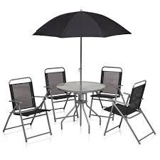 white round patio table wilko round patio set black 6 piece at wilko com