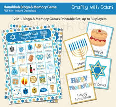 hanukkah bingo hanukkah bingo memory printable hanukkah by crafty with