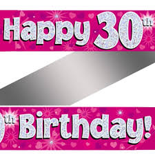 30th birthday delivery holographic happy 30th birthday banner buy helium balloons