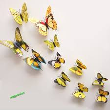 12pcs 3d pvc butterflies diy butterfly art decal home decor wall 12pcs 3d pvc butterflies diy butterfly art decal