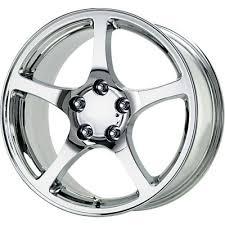 chrome corvette wheels chrome c5 corvette replica wheels set of 4 at corvette