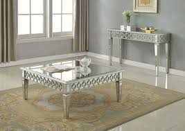 silver mirrored coffee table t1840 furniture import export inc