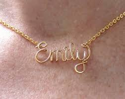 gold custom name necklace gold name necklace etsy