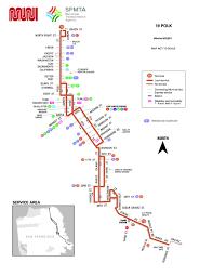 Bus Map San Francisco by 19 Polk Bus Route Sf Muni Sf Bay Transit