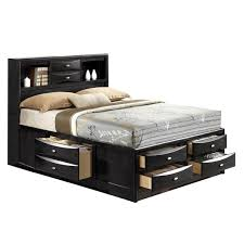 linda king size black storage bed free shipping today