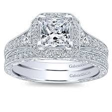 white gold halo engagement rings 14k white gold princess cut halo with channel setting 14k