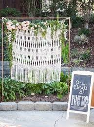 wedding backdrop greenery 40 macrame wedding ideas that excite happywedd