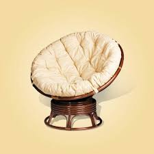 furniture papasan chair with white cushion wicker furniture
