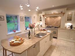 cream kitchen ideas with wooden flooring and countertop ideas 4