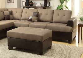 Sofa Ottoman Sectional Sofa W Ottoman By Boss In Tan Linen Fabric