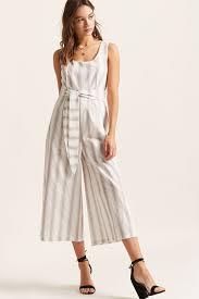 forever 21 white jumpsuit stripe wide leg jumpsuit forever 21 2000276662