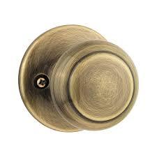 Brass Door Knobs Schlage Georgian Antique Brass Dummy Knob F170 Geo 609 The Home