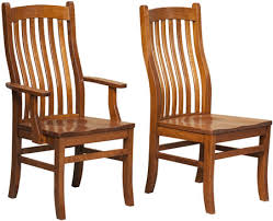 Amish Kitchen Furniture Amish Kitchen Dining Chairs Solid Wood Furniture In Mission Style