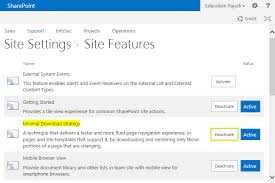 how to disable minimal download strategy mds in sharepoint 2013