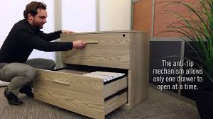 Lateral Filing Cabinets Wood by Modern Lateral Filing Cabinet Officefurniture Com Youtube