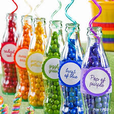 Birthday Candy Buffet Ideas by Oriental Trading Has These Plastic Containers Rainbow Birthday