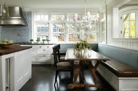 Breakfast Nook Chandelier Corner Bench Kitchen Table Kitchen Traditional With Banquette Blue