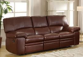 Chenille Reclining Sofa by Homelegance Kendrick Double Recliner Sofa Brown Bonded Leather